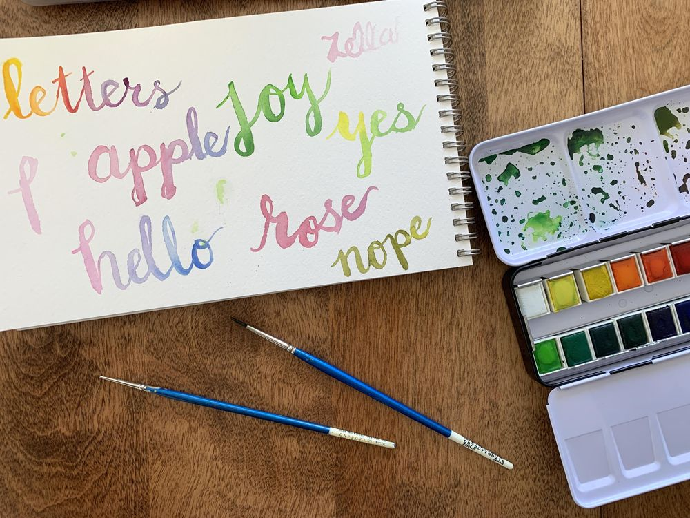 Watercolor Lettering - image 2 - student project