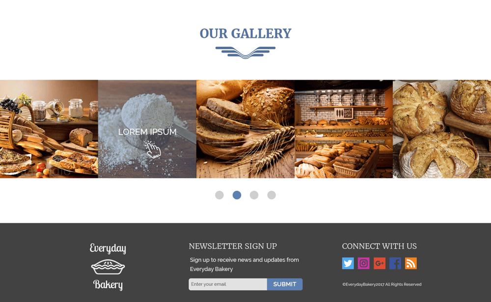 Everyday Bakery - Single Page Website (Photoshop) - image 7 - student project