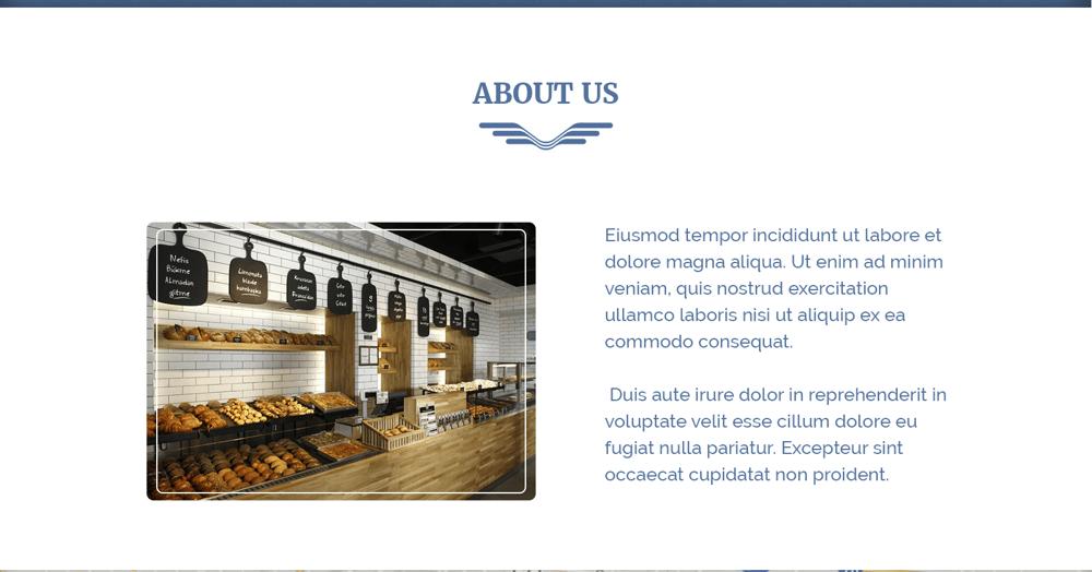 Everyday Bakery - Single Page Website (Photoshop) - image 5 - student project