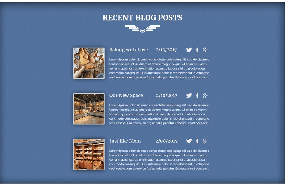 Everyday Bakery - Single Page Website (Photoshop) - image 4 - student project
