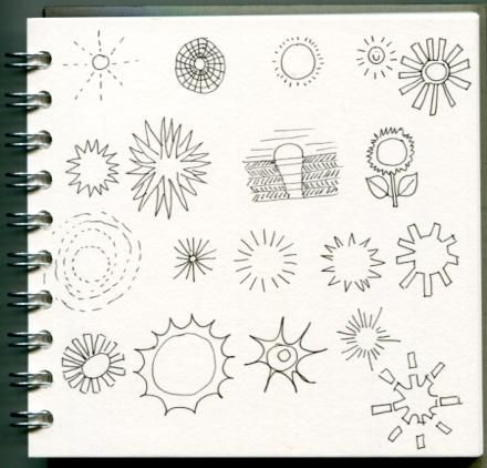 100 illustrations of the sun - image 1 - student project