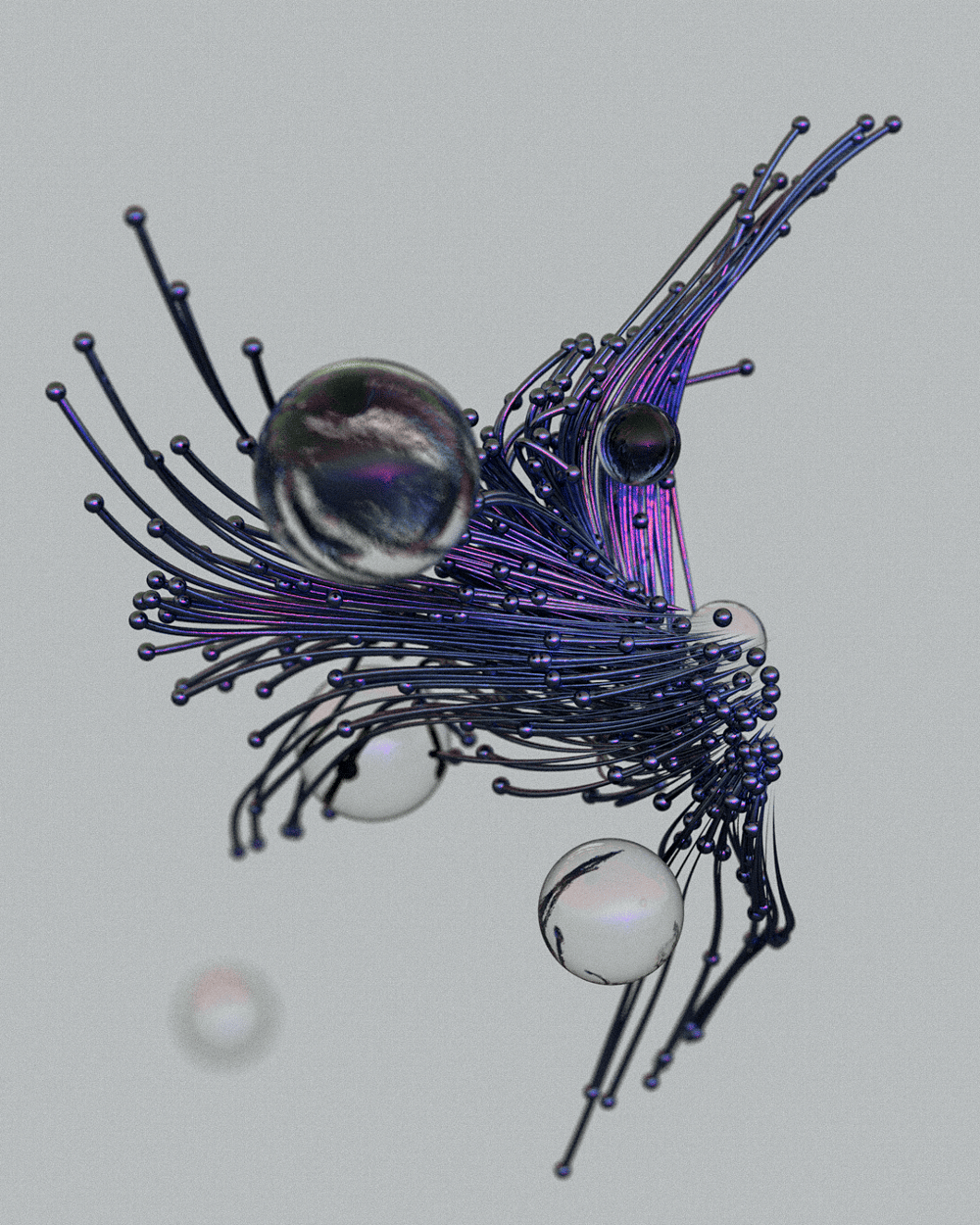 Abtsract Tendrills_Spheres - image 3 - student project