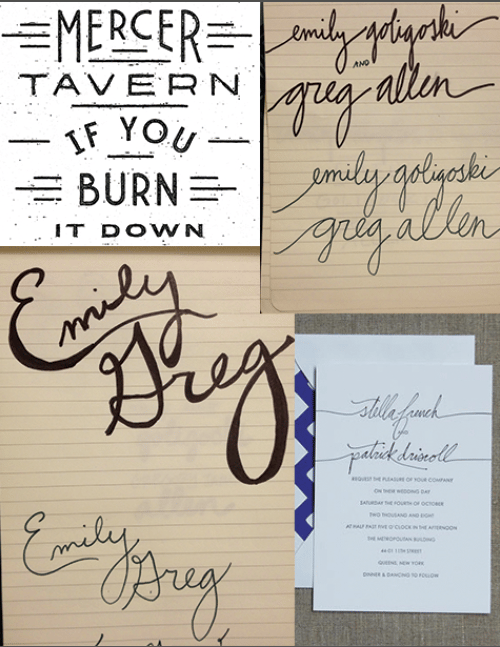 Wedding invite trial lettering - image 2 - student project