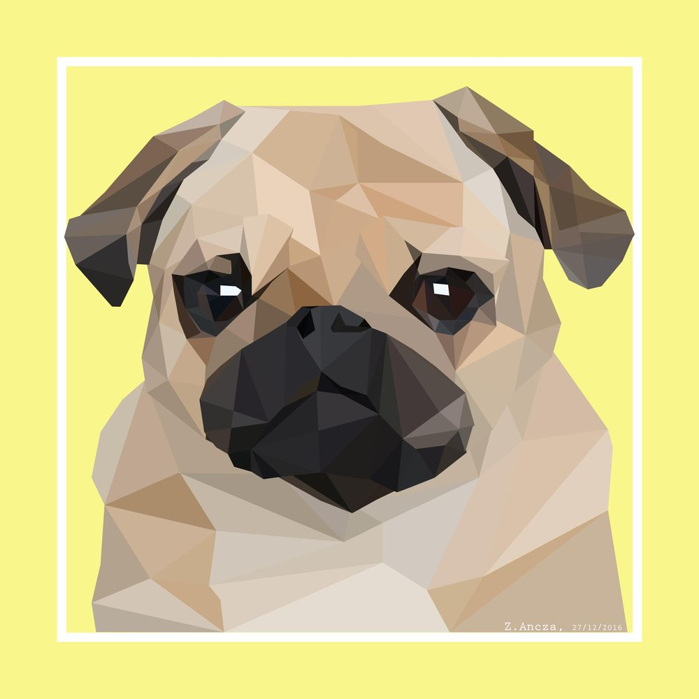 Low Poly Pug - image 1 - student project