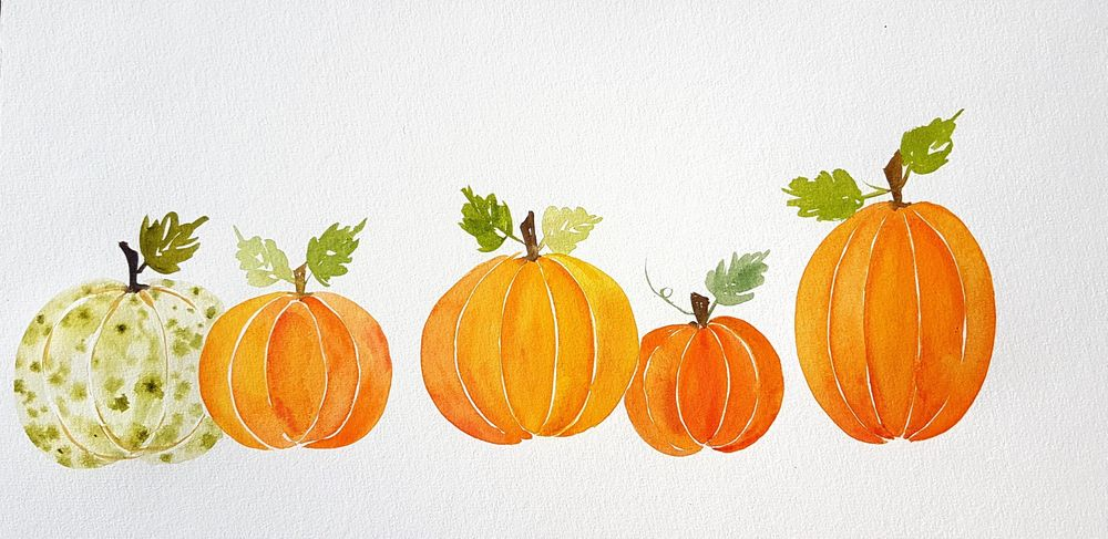 Autumn leaves and Pumpkins - image 1 - student project