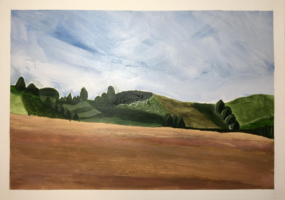Abstract landscape - image 1 - student project