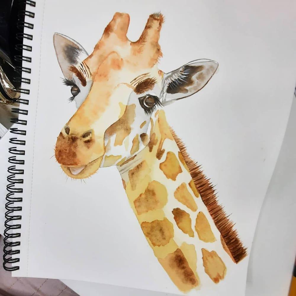Watercolour Giraffe - image 1 - student project