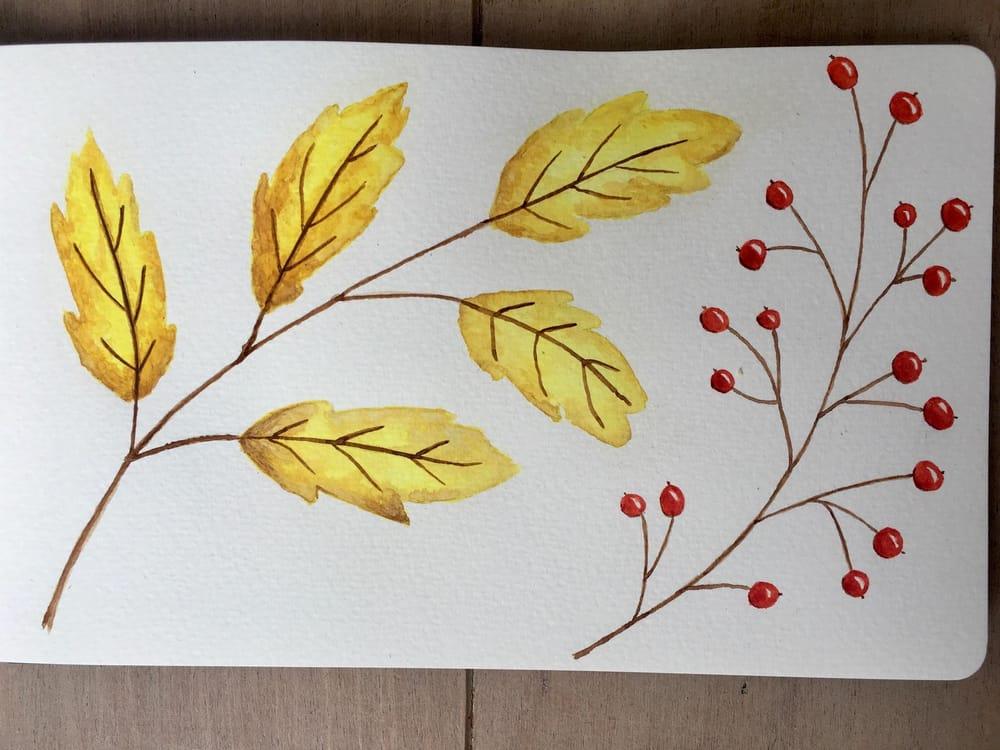 Autumn sketchbook - image 4 - student project
