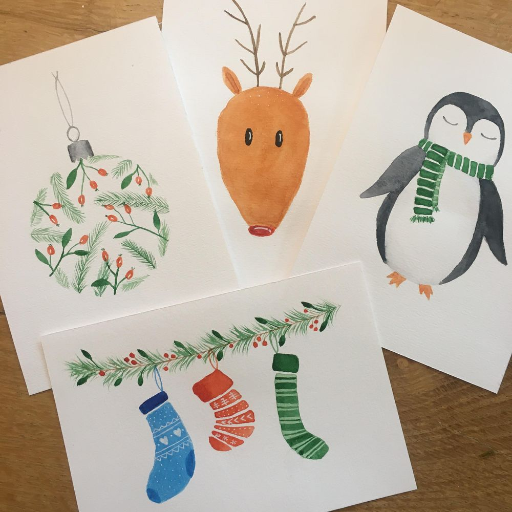 Winter watercolour projects - image 1 - student project