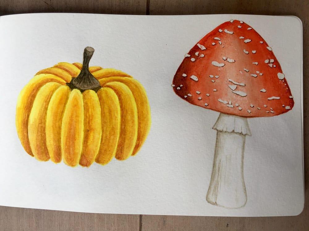 Autumn sketchbook - image 2 - student project