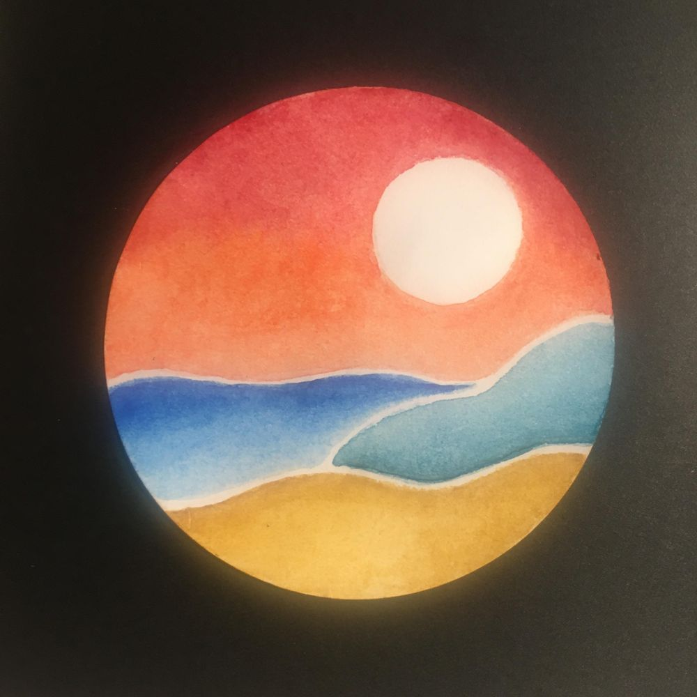 Watercolour abstract landscapes - image 2 - student project