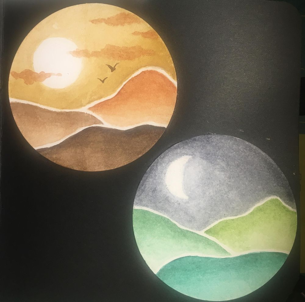 Watercolour abstract landscapes - image 3 - student project