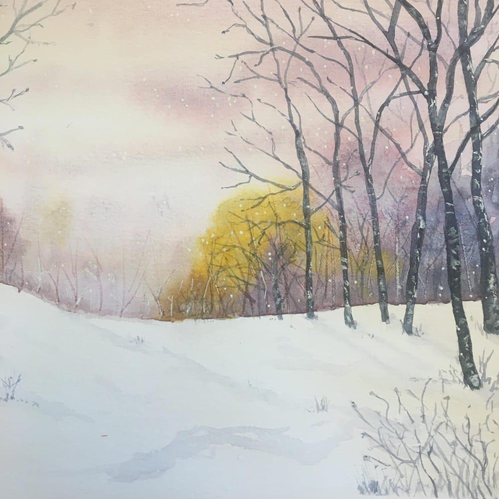 Snowy landscape - image 3 - student project