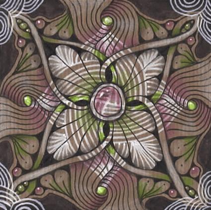 Tranzending mandala on craft paper - image 1 - student project