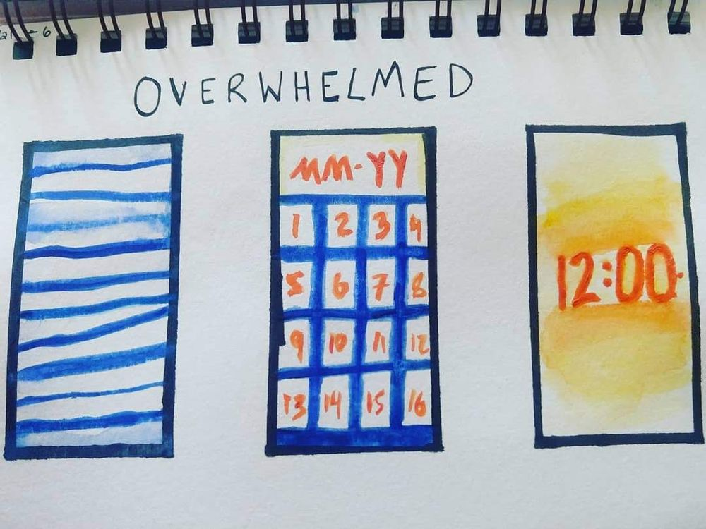 Visual Journaling - Drawing Feelings Project - image 5 - student project
