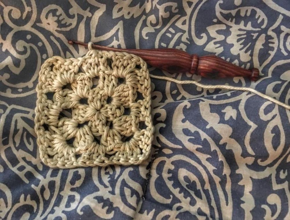 My first granny square - image 1 - student project