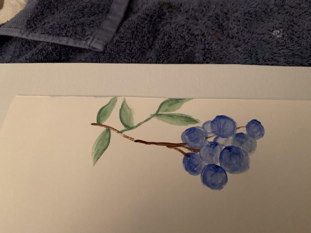Blueberries with gradient - image 1 - student project