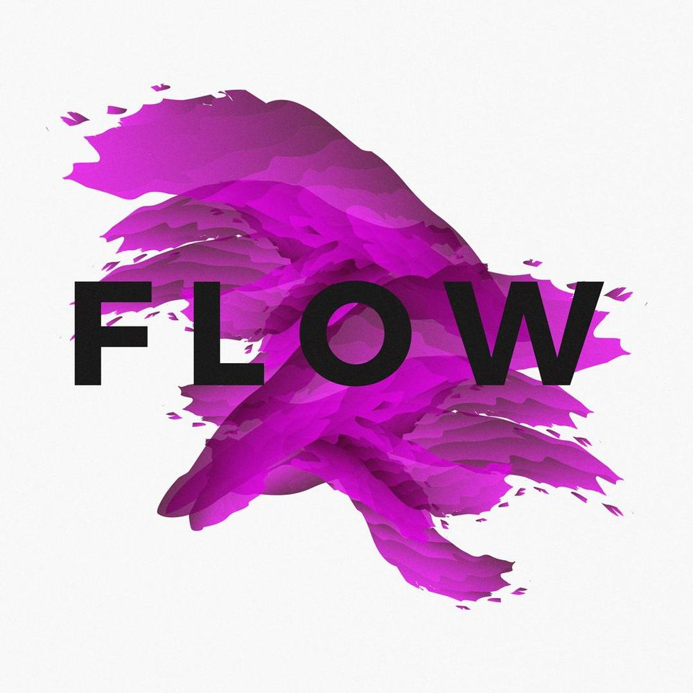 """""""Flow"""" Abstract Poster - image 1 - student project"""