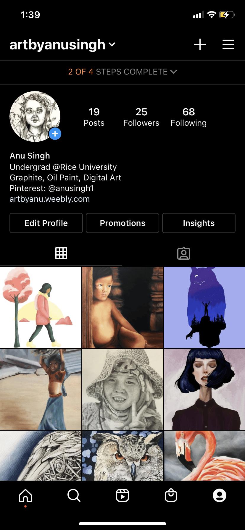 Instagram Progress - image 1 - student project