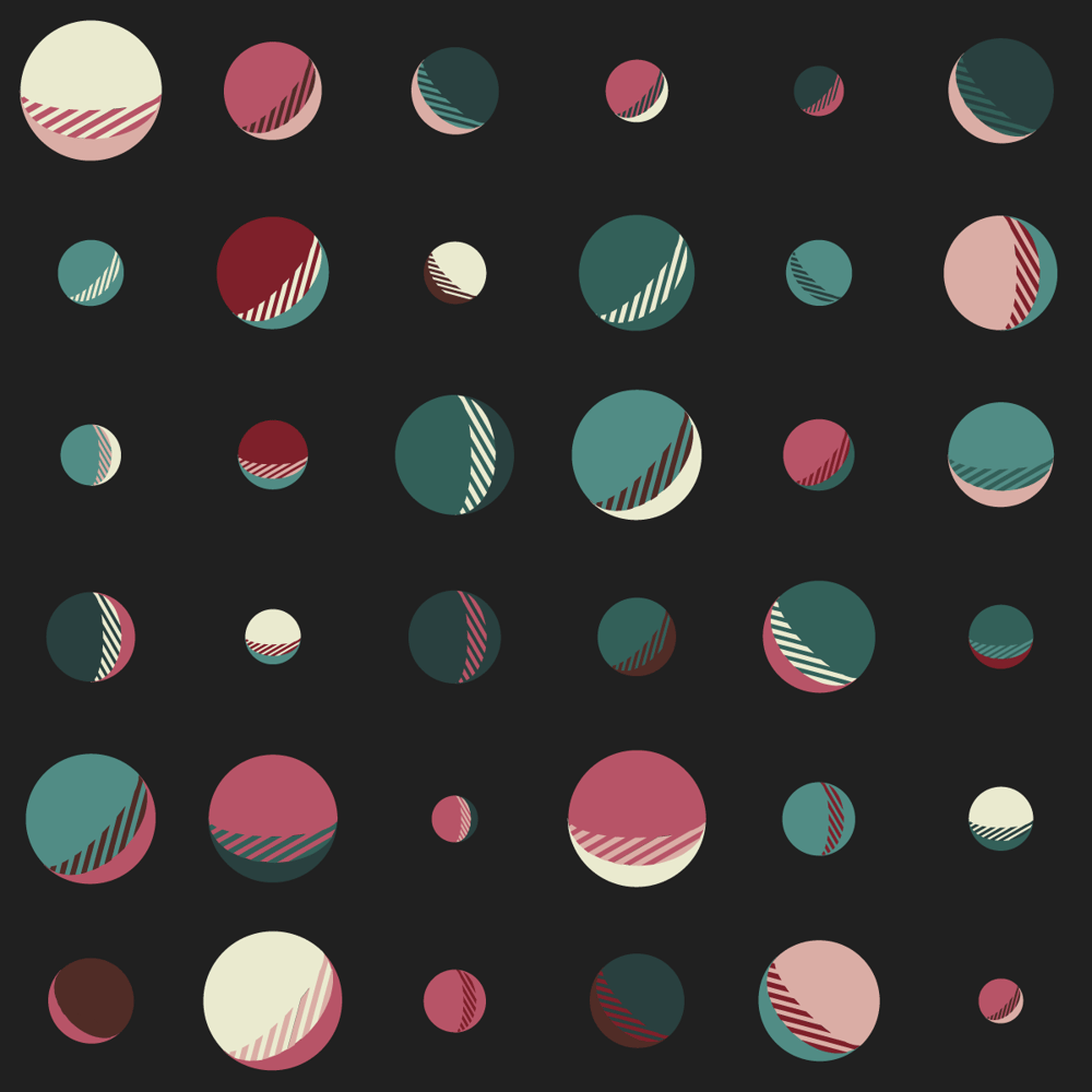 Moons, earth, square, lines - image 3 - student project