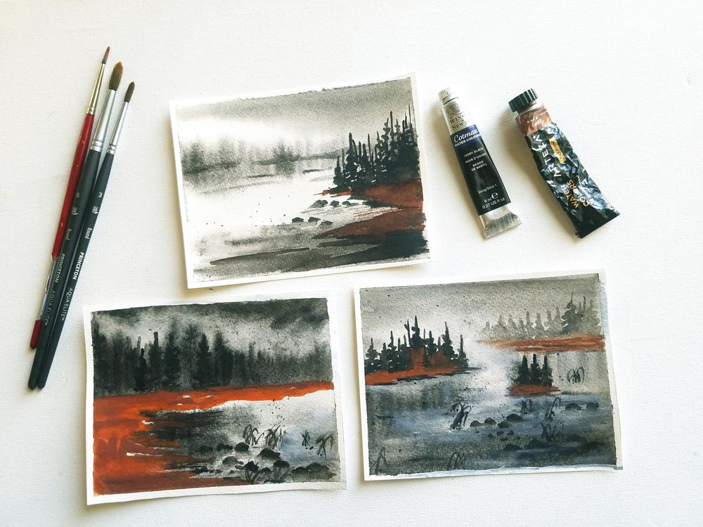 Soft and Fluffy Watercolor Landscapes - image 2 - student project