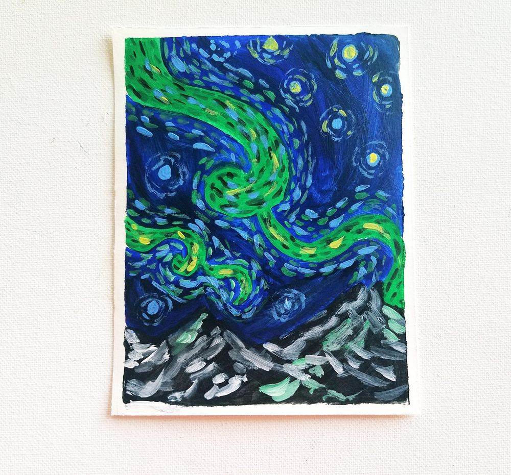 Expressive Van Gogh Style Illustrations in Gouache - image 1 - student project