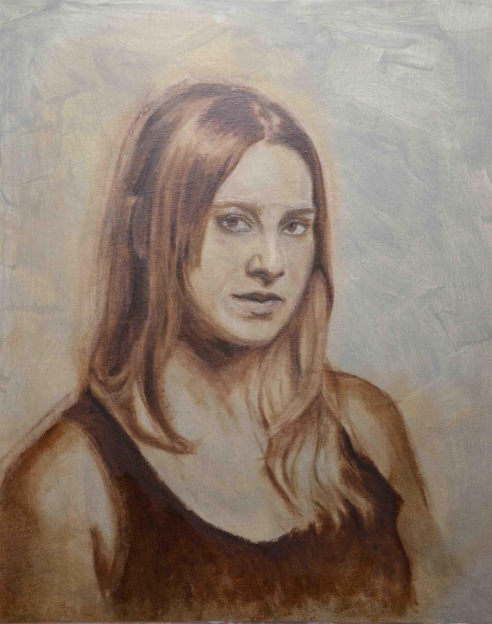 Underpainting, Portrait of Kristy - image 1 - student project