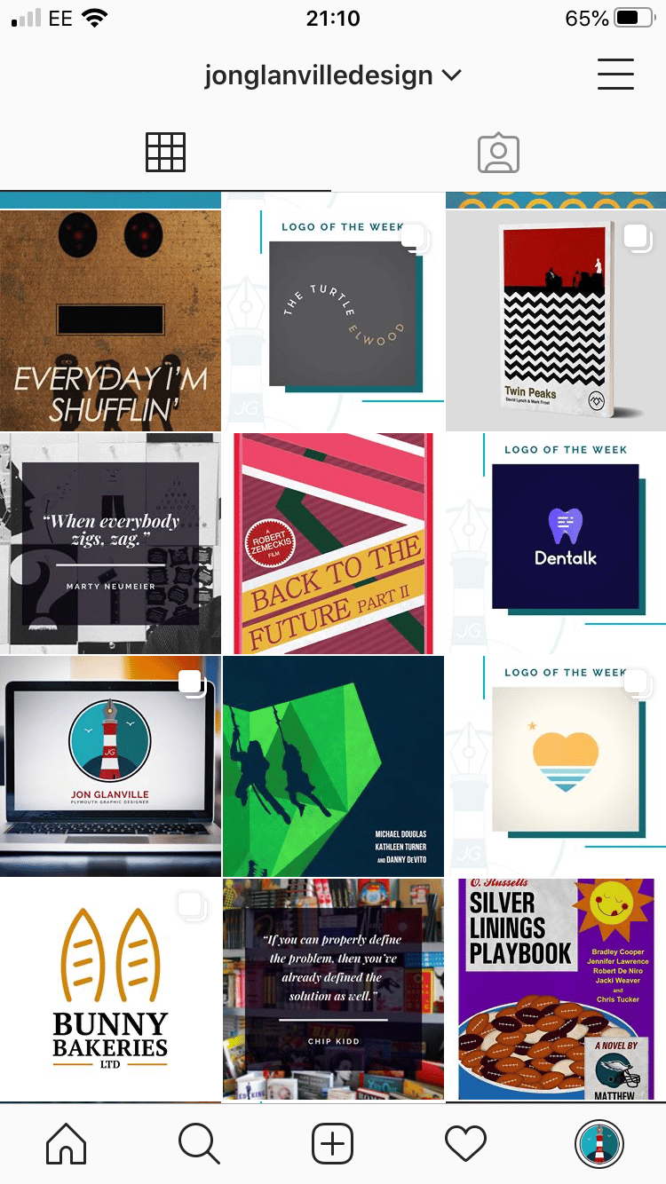Graphic Designer IG Page So Far - image 1 - student project