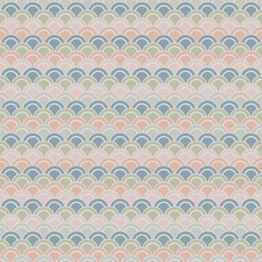 Pastel Rising Sun Pattern - image 1 - student project