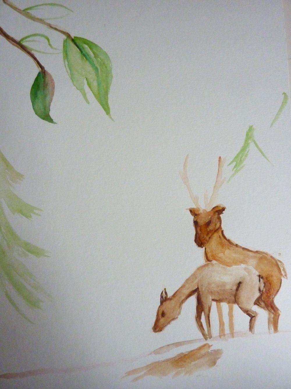 Festive Deer letterpaper - image 4 - student project
