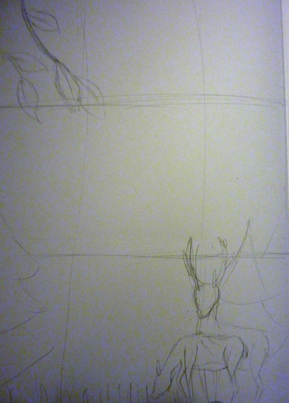 Festive Deer letterpaper - image 3 - student project