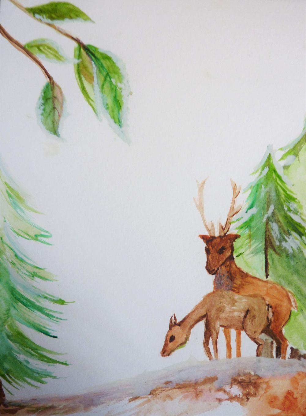 Festive Deer letterpaper - image 5 - student project