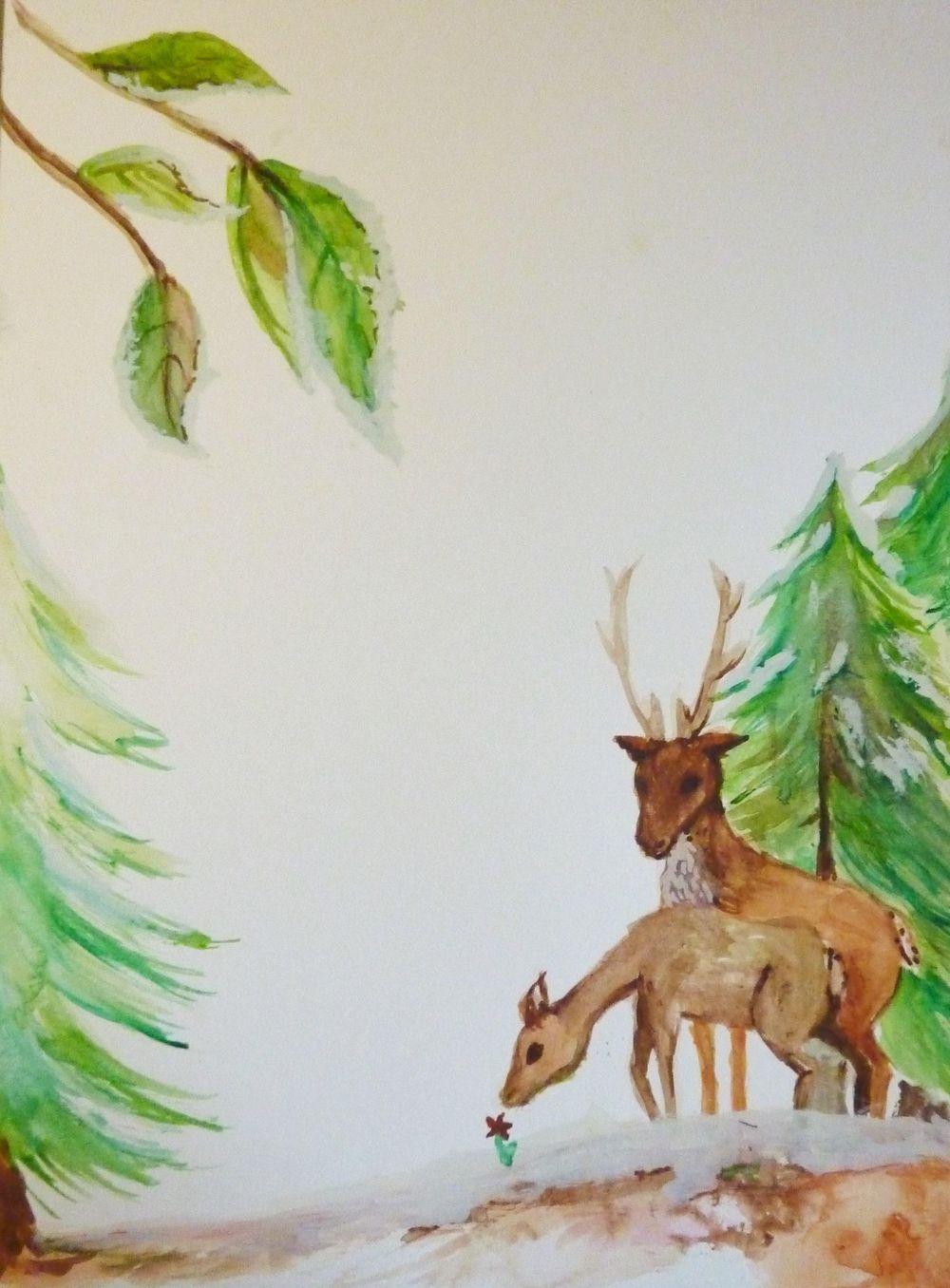 Festive Deer letterpaper - image 6 - student project