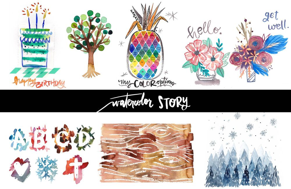 Watercolor Story {Teacher's Sample Project} - image 1 - student project
