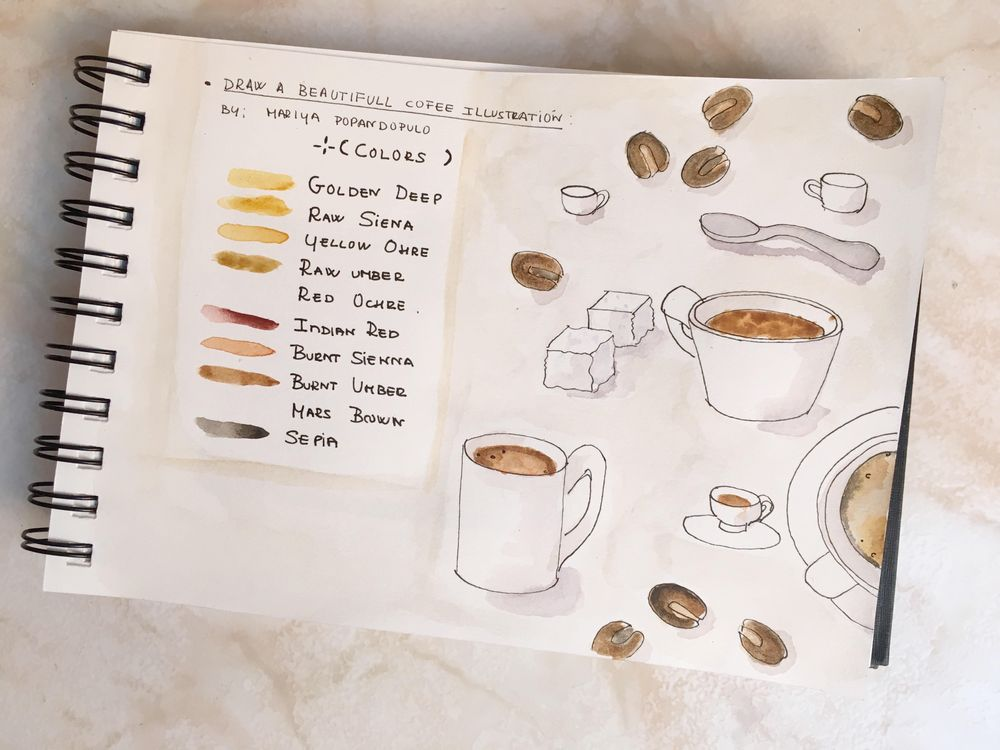 Watercolor cofee - image 3 - student project