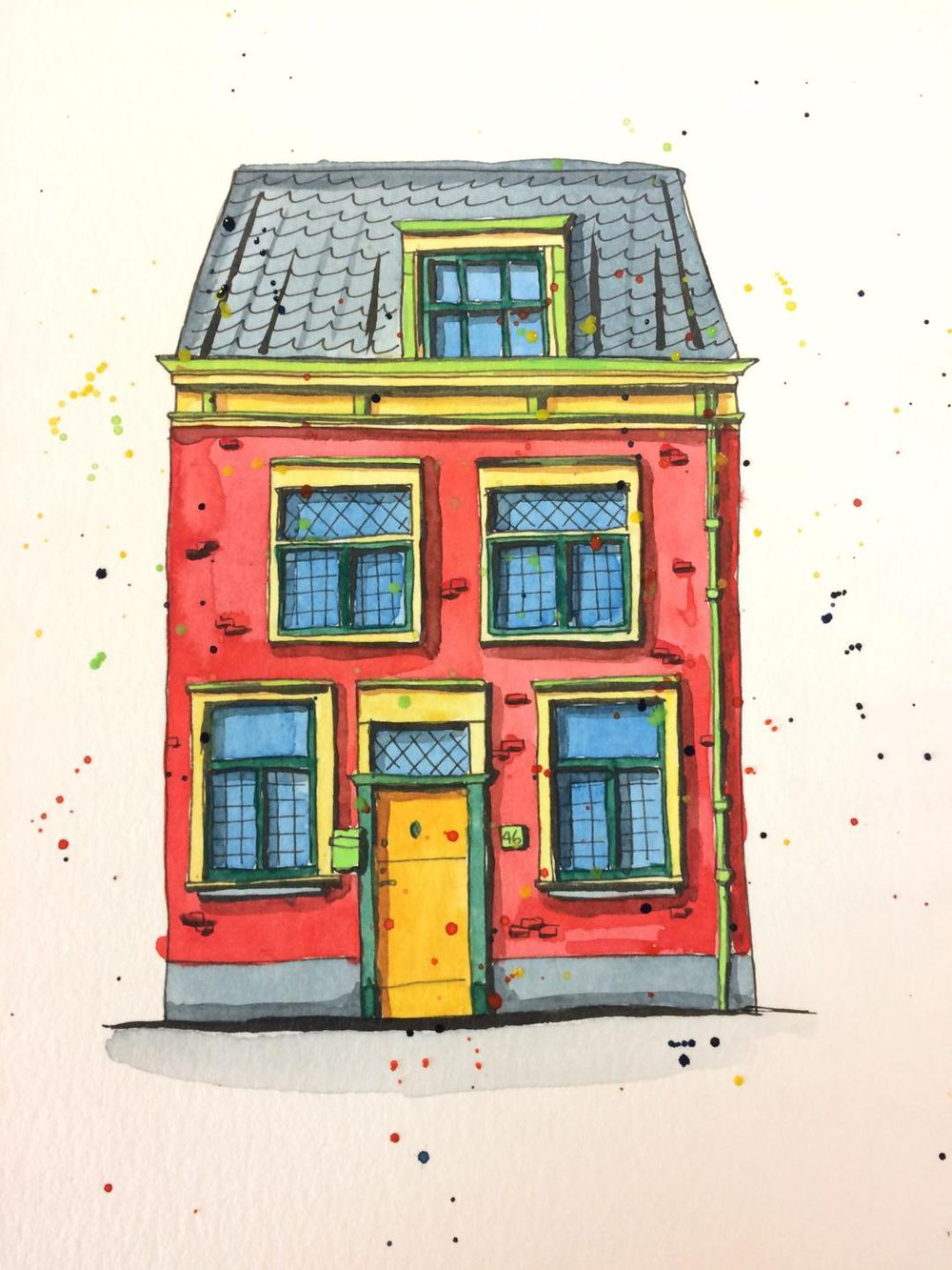 colorful Leiden house - image 4 - student project