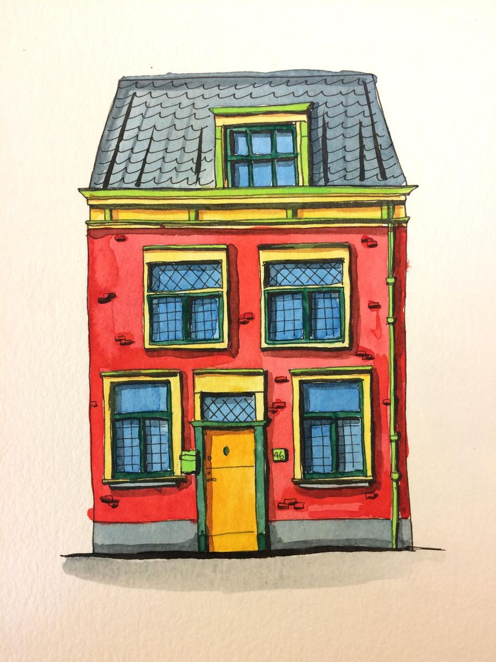 colorful Leiden house - image 3 - student project