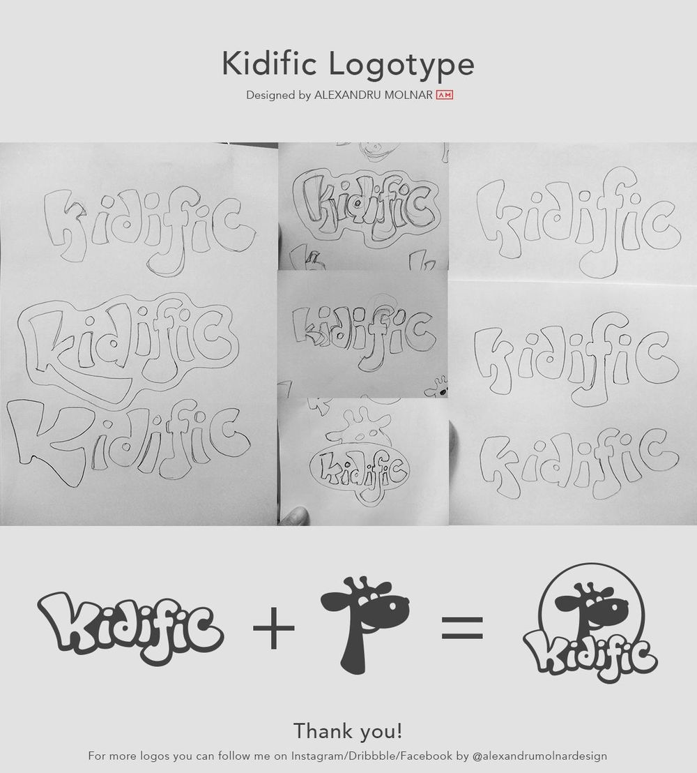 Kidific Logotype for a kids shop - image 1 - student project