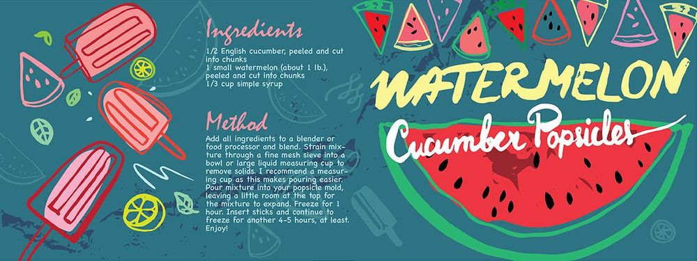 WATERMELON CUCUMBER POPSICLES - image 6 - student project