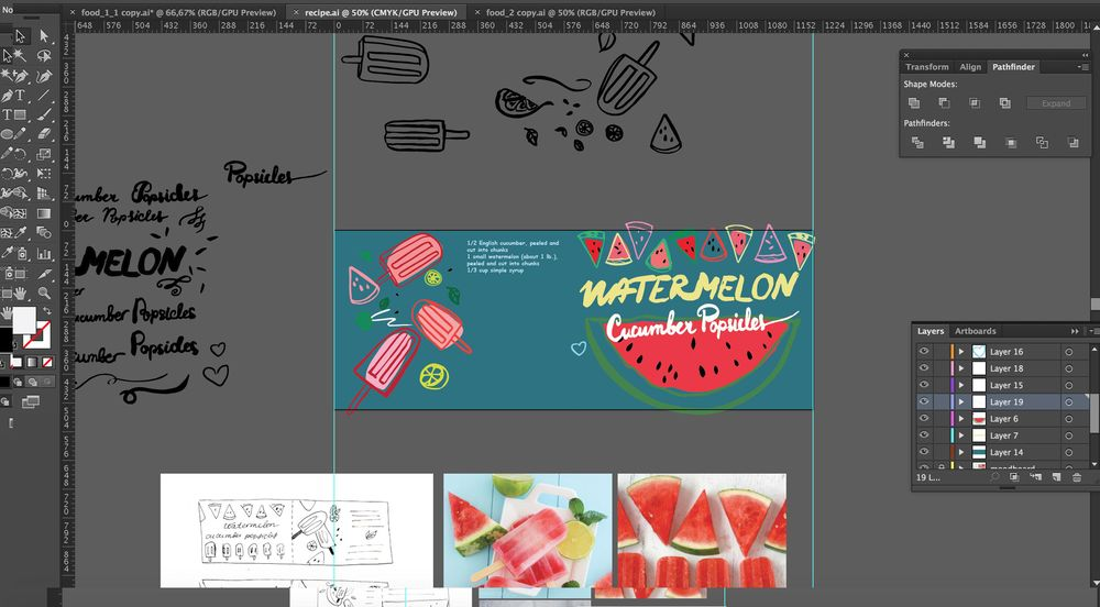 WATERMELON CUCUMBER POPSICLES - image 5 - student project