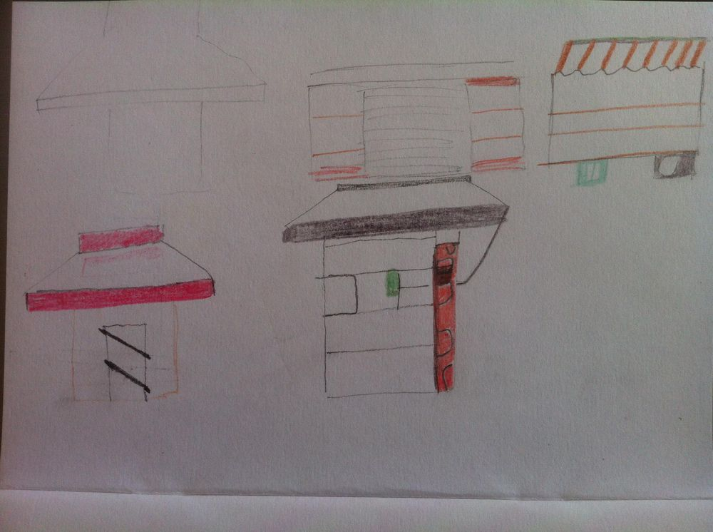 Landmarked drawings of Athens kiosks - image 23 - student project