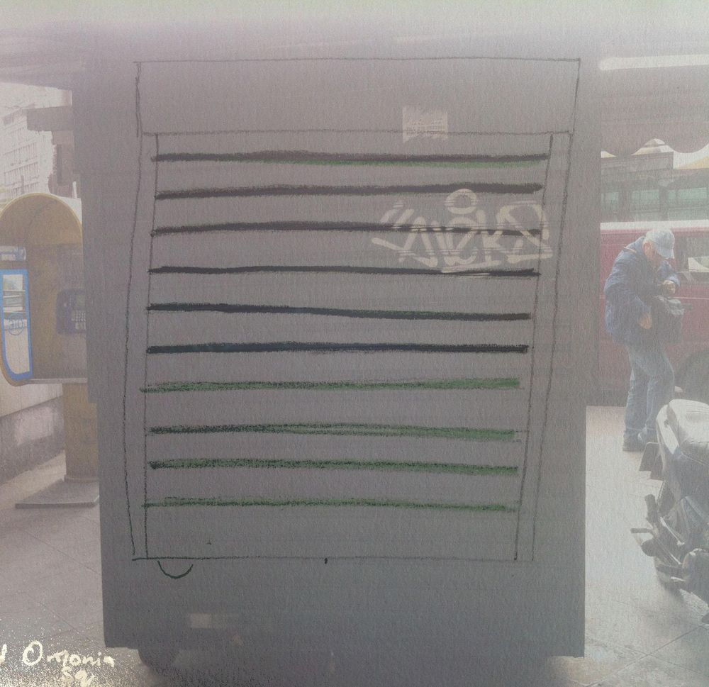 Landmarked drawings of Athens kiosks - image 13 - student project