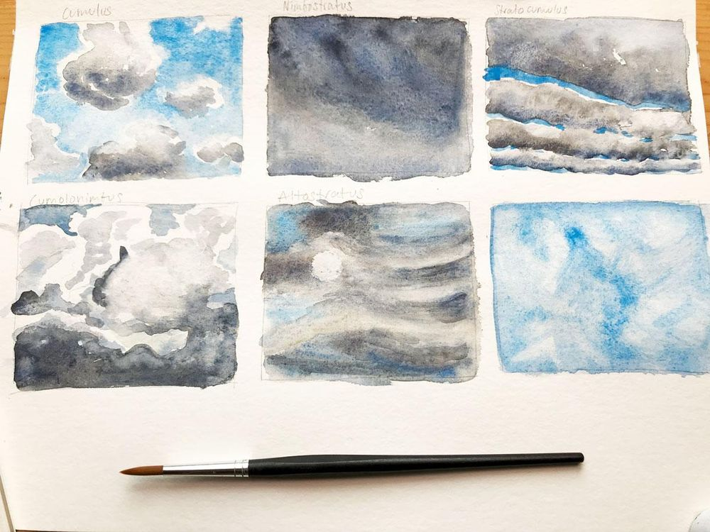 Different Clouds & Sky Paintings - image 1 - student project
