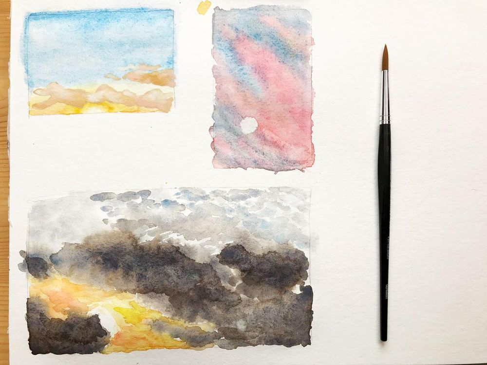 Different Clouds & Sky Paintings - image 2 - student project