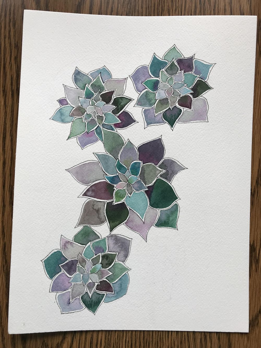 Modern Botanical Watercolor Paintings - image 6 - student project
