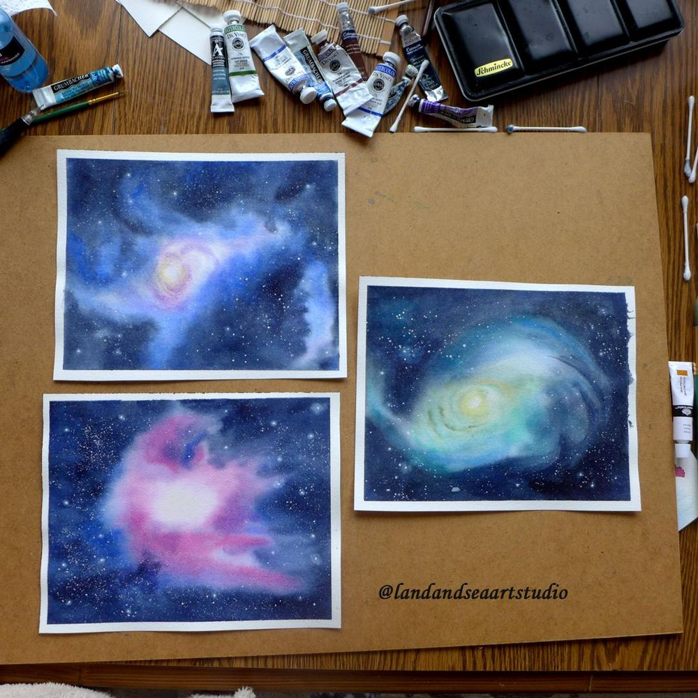 Watercolor Nebulas - image 1 - student project