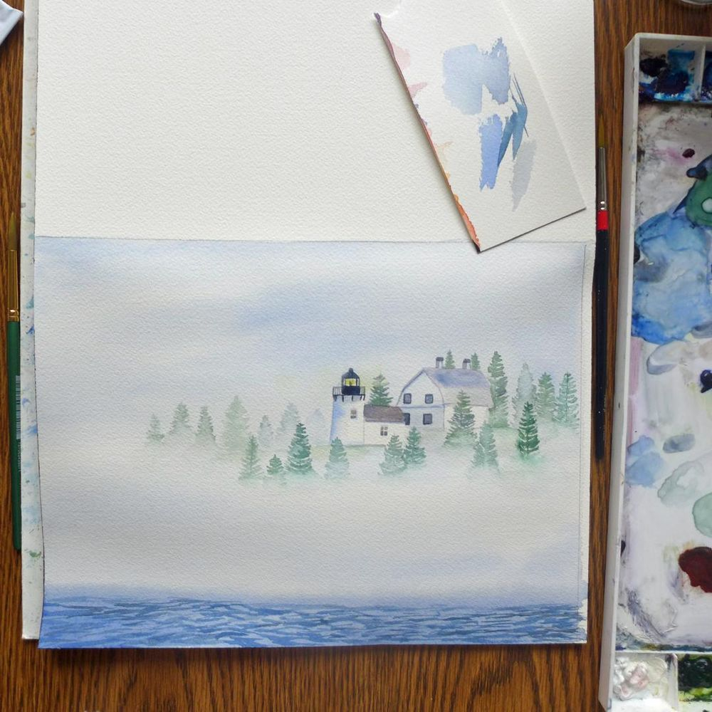 Painting Fog with Watercolors - image 2 - student project
