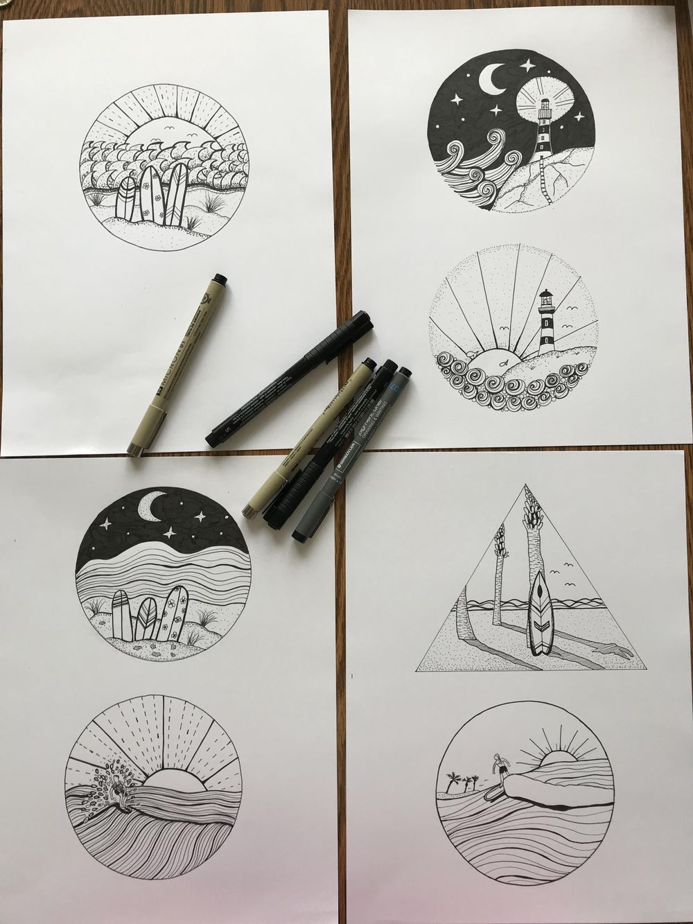 Abstract Ink Landscapes - image 1 - student project