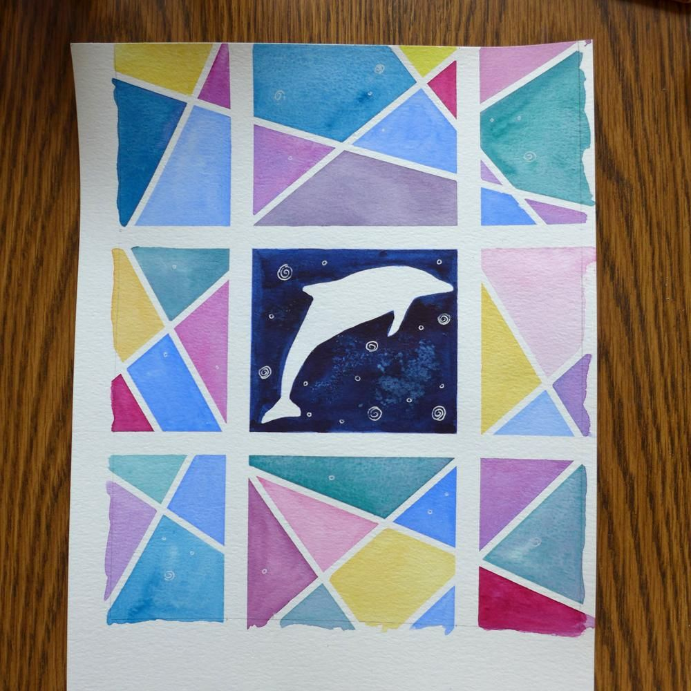 Watercolor with Washi Tape - image 3 - student project