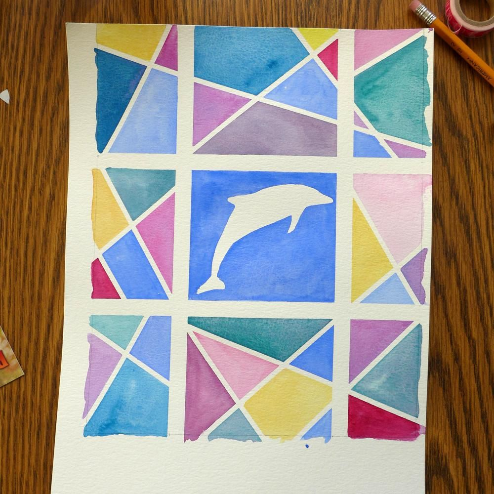 Watercolor with Washi Tape - image 2 - student project